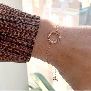 NWT Adore Jewelry Swarovski Rose Gold Bracelet